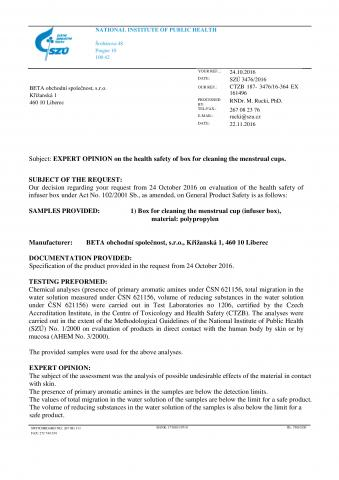 сертификаты менструальная чаша yuuki