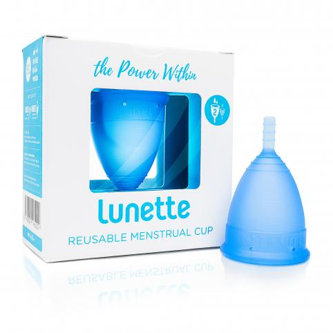 "Менструальная чаша ""Lunette"" синяя"